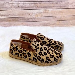 UGG Sandrinne Calf Hair Leopard Loafers